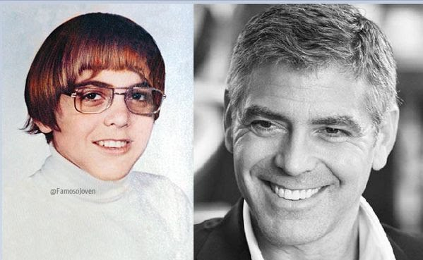George Clooney antes y despues